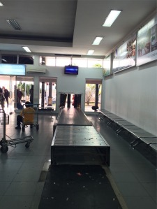 Bagasi conveyor belt nya, hahaha soo tiny